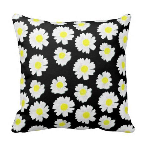 Flowering On Black - Pillow