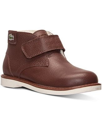 eed47abca Lacoste Toddler Boys  Sherbrooke Hi Chukka Boots from Finish Line - Finish  Line Athletic Shoes - Kids   Baby - Macy s