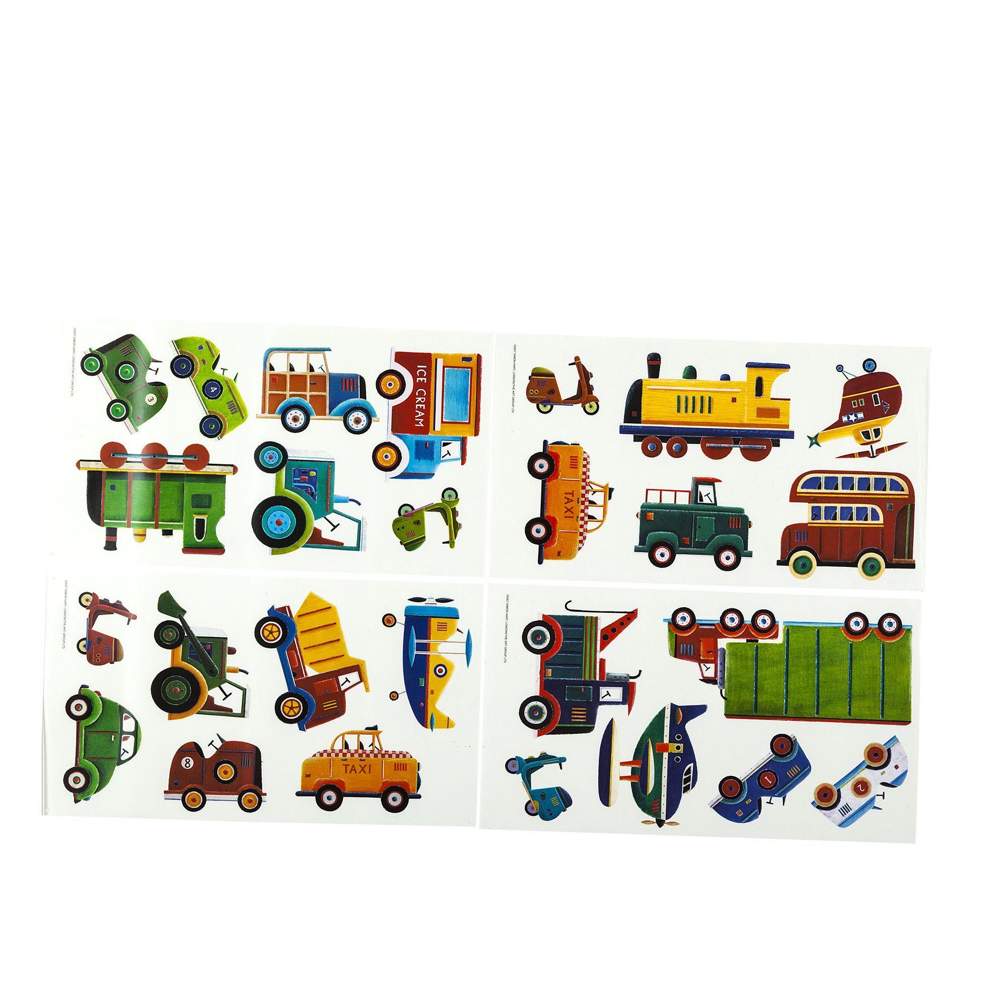 Stickers repositionnables pour enfant Th¨me transports