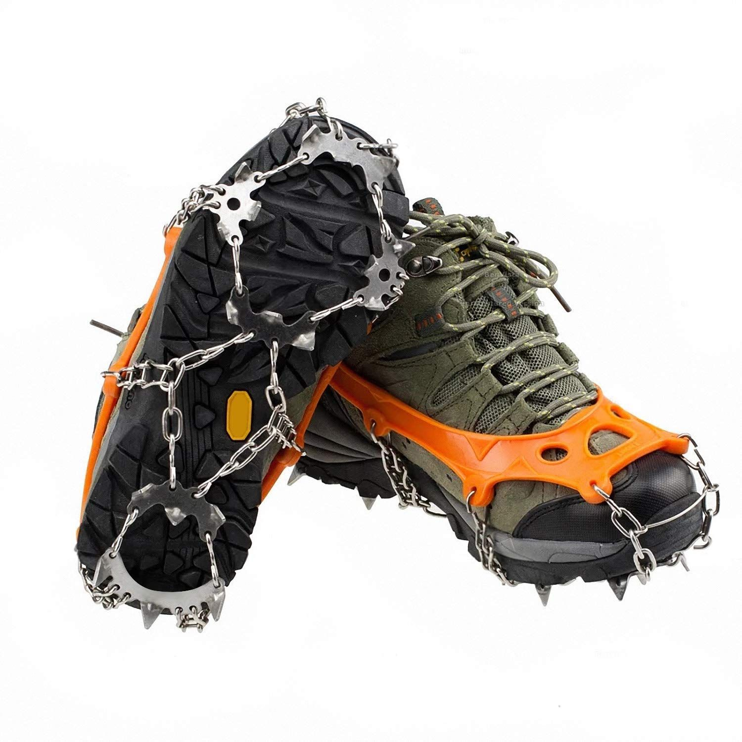 Ice Snow Crampons Cleats Anti-slip Shoes Spike Grip Boot Traction Grippers Hike