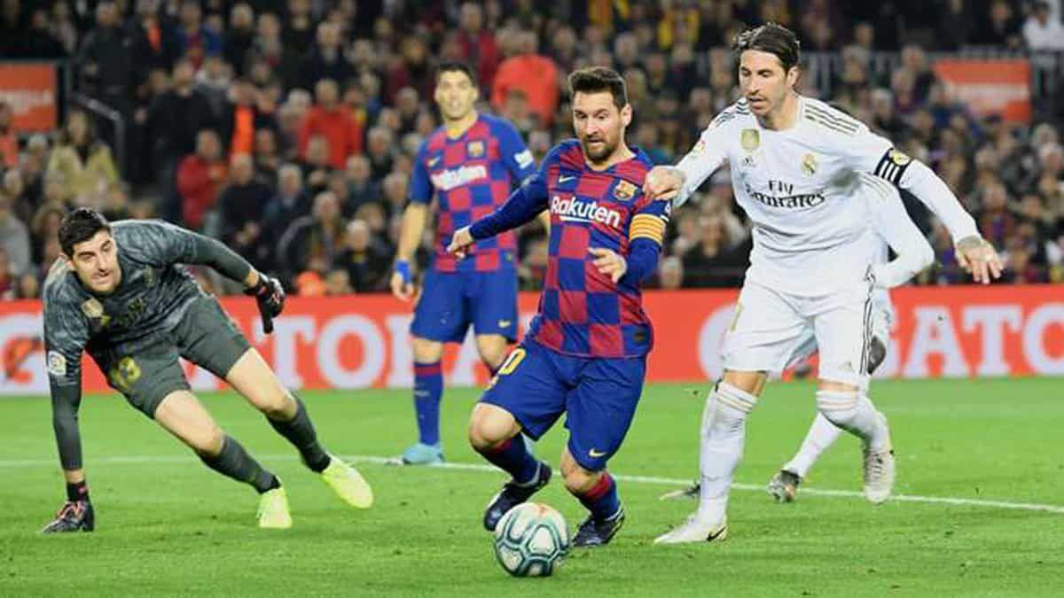 كلاسيكو الارض 2020 اليوم بين برشلونة وريال مدريد في الدوري الاسباني Lionel Messi La Liga Messi