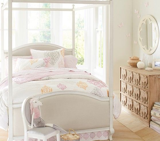 Remy Canopy Bed | Pottery Barn Kids | Elena\'s Room | Pinterest ...