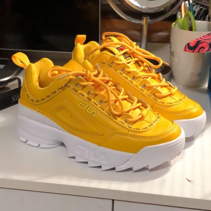 Fila Shoes | Yellow Fila Disruptor Ii
