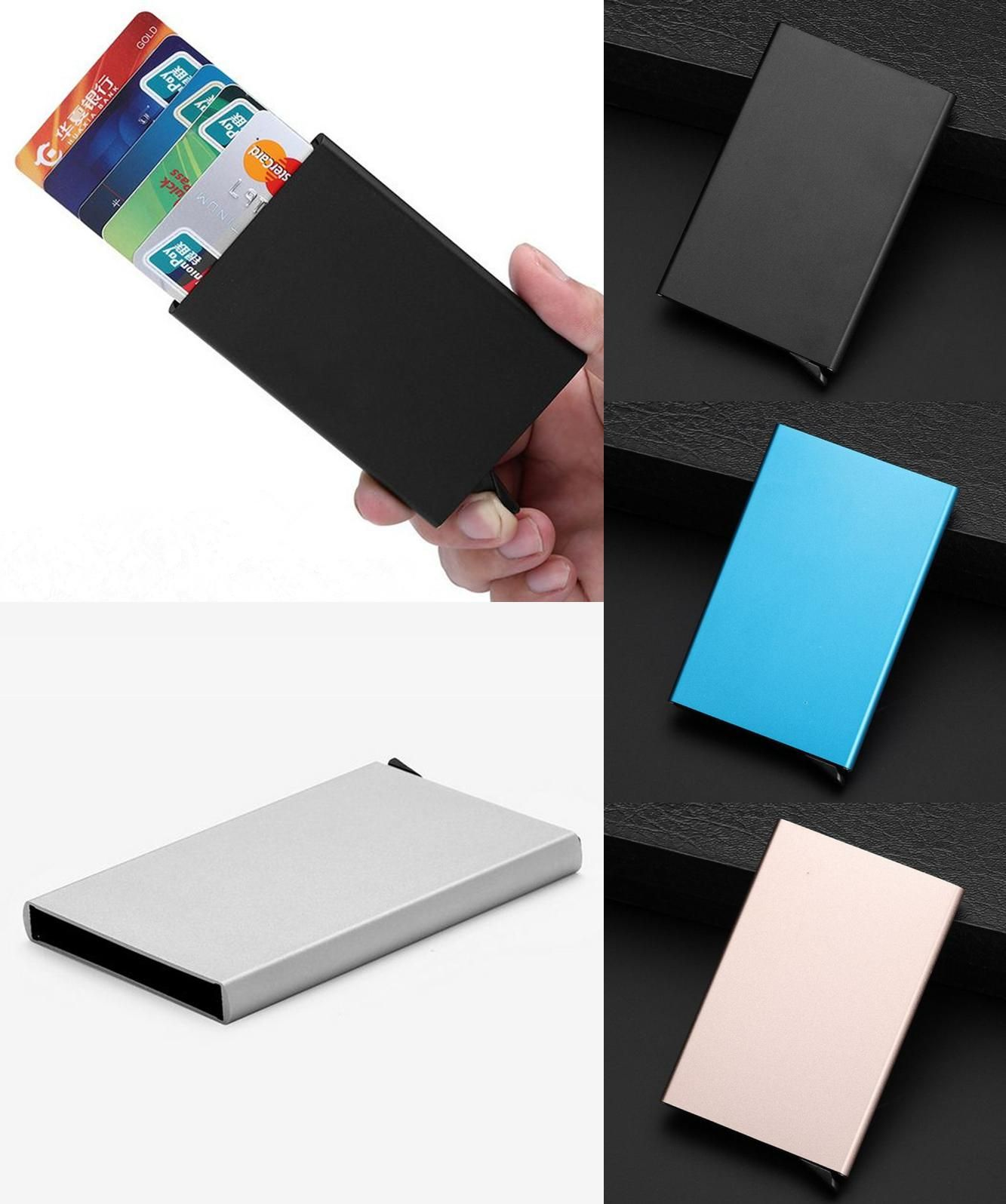 Visit to Buy] High Quality Automatic Business Card Holder Metal ...