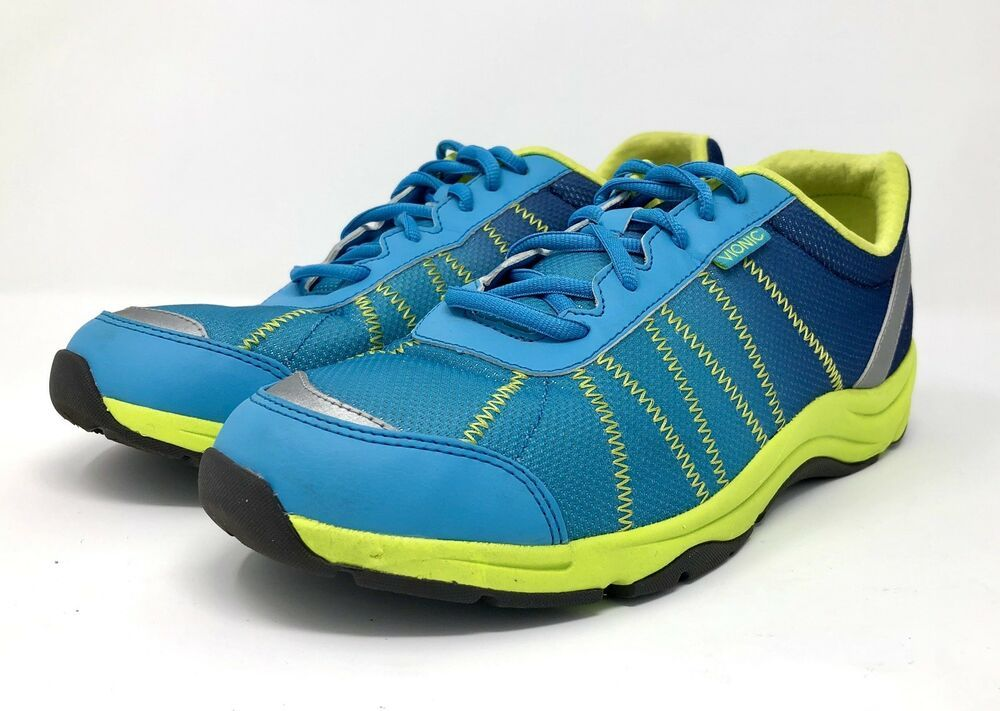 0871aa2534a Vionic Alliance Orthaheel Womens Size 11 W Wide Shoes Walking Sneaker Blue  Mesh