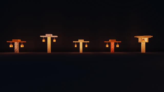 Simple Street Lamp Designs Detailcraft Minecraft Blueprints Minecraft Light Minecraft Designs