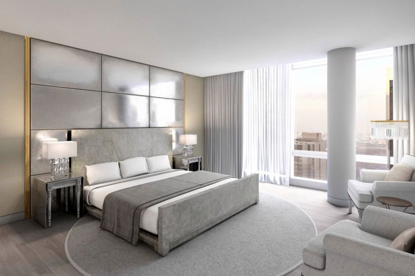 Tour new york 39 s fanciest new hotel the new york post - Contemporary bedroom sets for sale ...