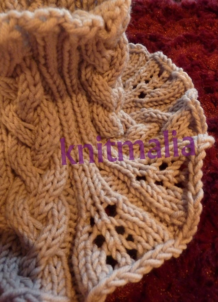 Free Pattern: Neck Warmer Moneglia by Silvia Knitmalia. | knit ...