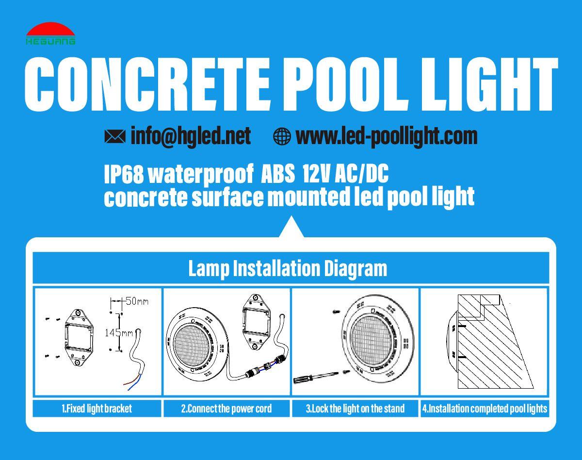 The Installation Of Led Pool Light Pool Light Pool Lights Led Pool Lighting