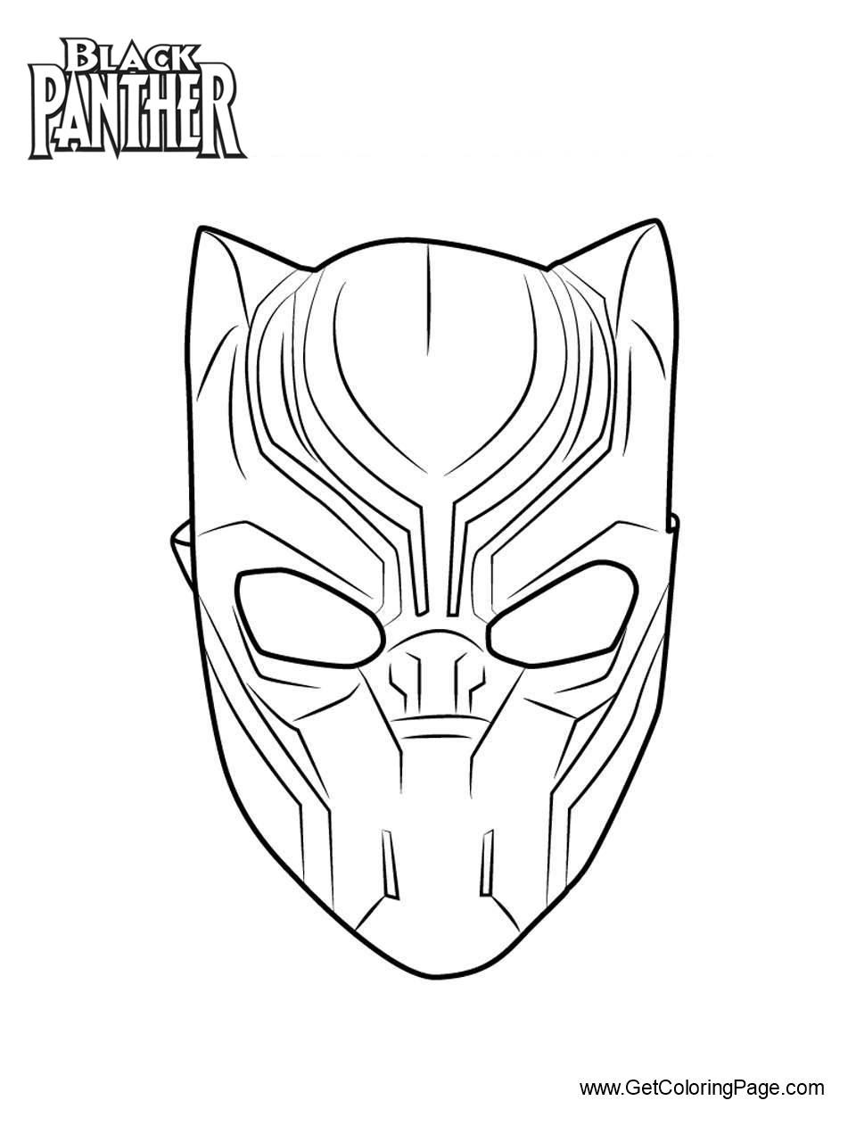Animals Coloring Pages Free Printable Coloring Pages At Coloringonly Com In 2020 Black Panther Drawing Black Panther Face Avengers Coloring