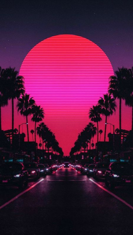 Palms And Sunset / ClickASnap