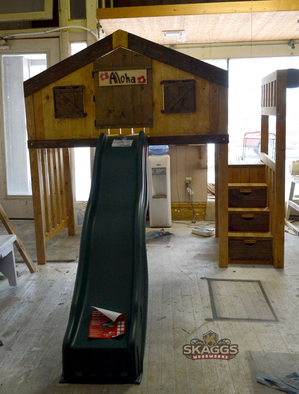 Clubhouse loft bed with slide. (With images) Loft bed