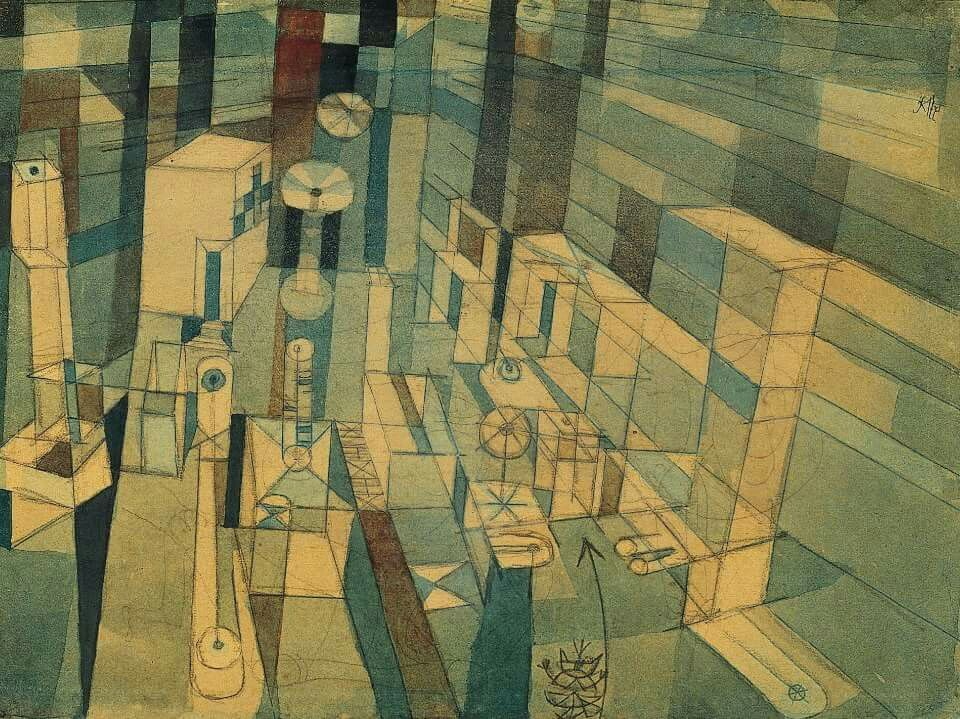 Paul Klee Room perspective red/green (1921)