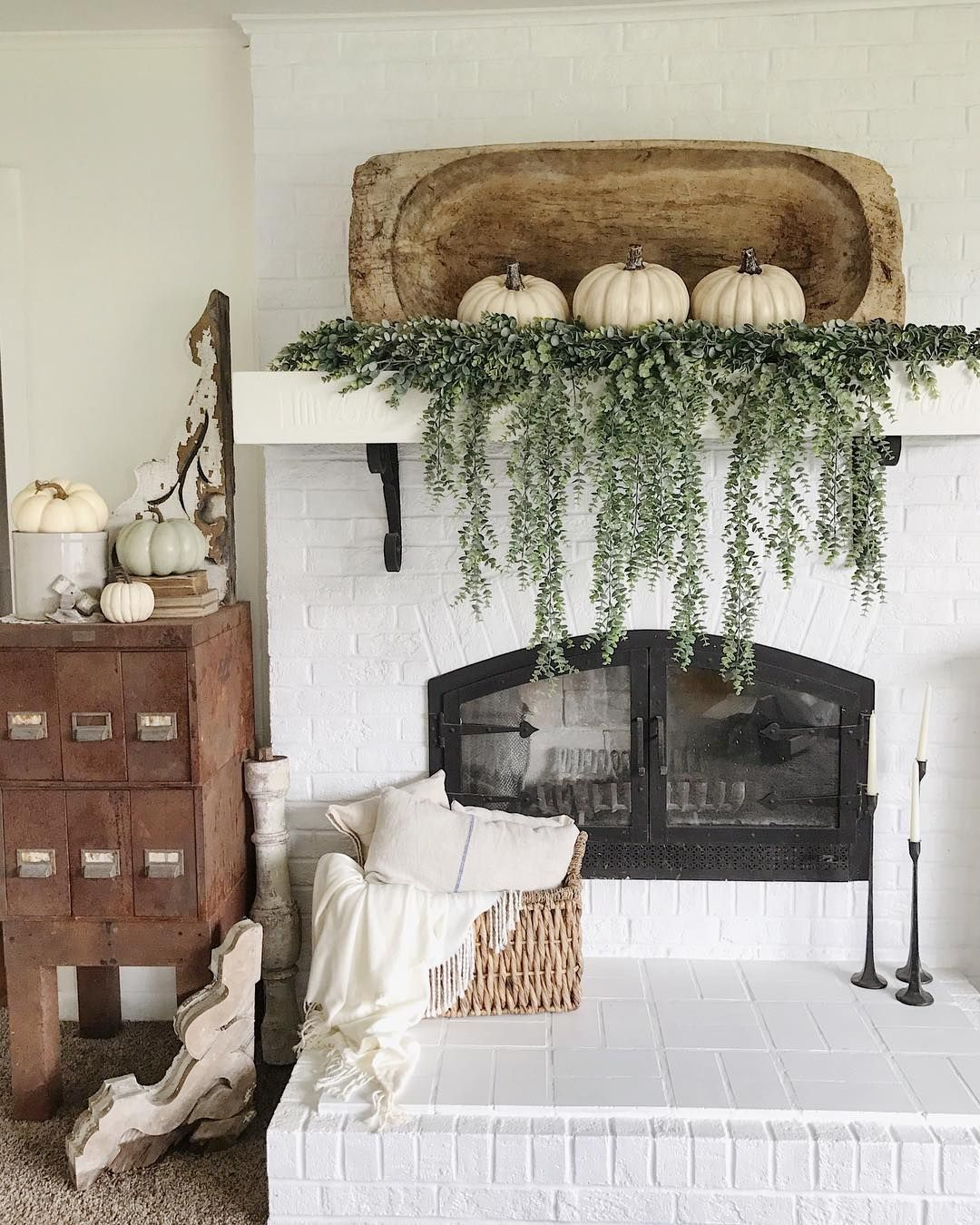 Dough bowl mantel decor Game changes I am obsessed with this