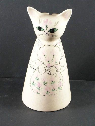 1960s Lauri Ana Studio Pottery Cat - Conical Money Box