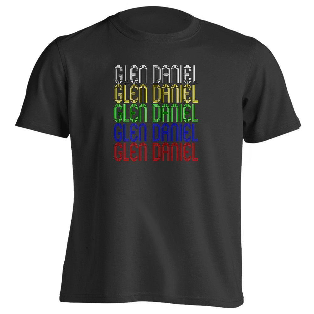 Retro Hometown - Glen-Daniel, WV 25844 - Black - Small - Vintage - Unisex - T-Shirt