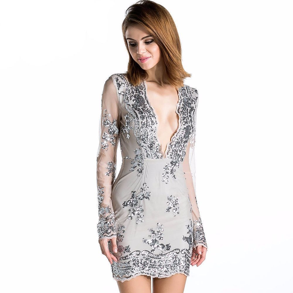 Jaina bodycon dress bodycon dress sequins and lace embroidery