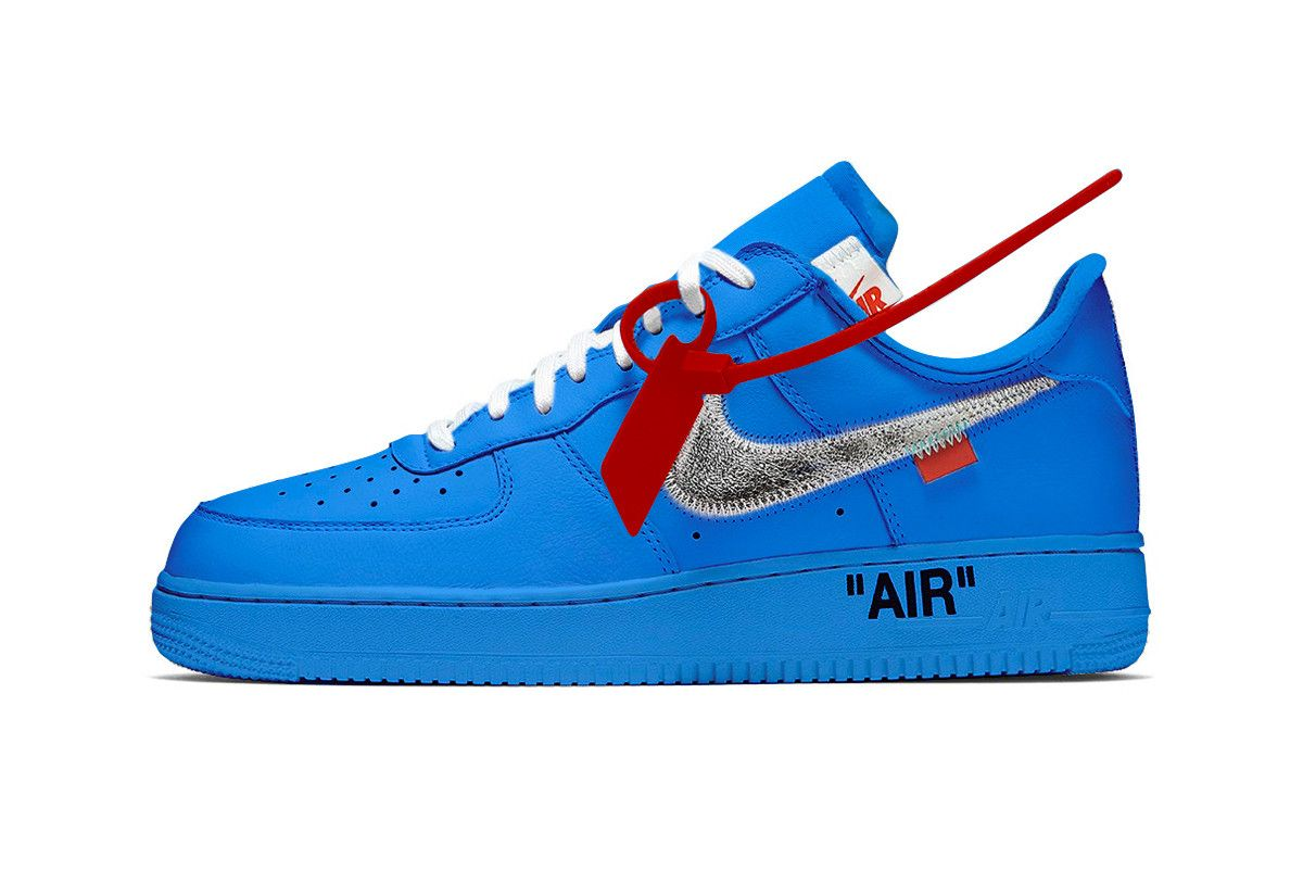 Blue Off White X Nike Af1 Rumored To Release At Museum Of Contemporary Art Chicago Air Force One Shoes Nike Air Force Ones Nike Air Force