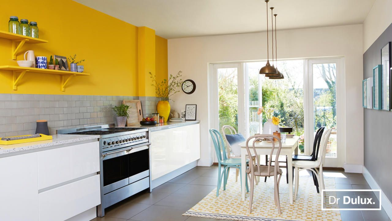 Dr dulux kitchen groombridge yellow bathroom decor - Pintura para pintar azulejos de cocina ...