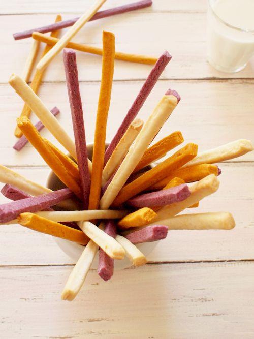 Tricolor Stick Cookies