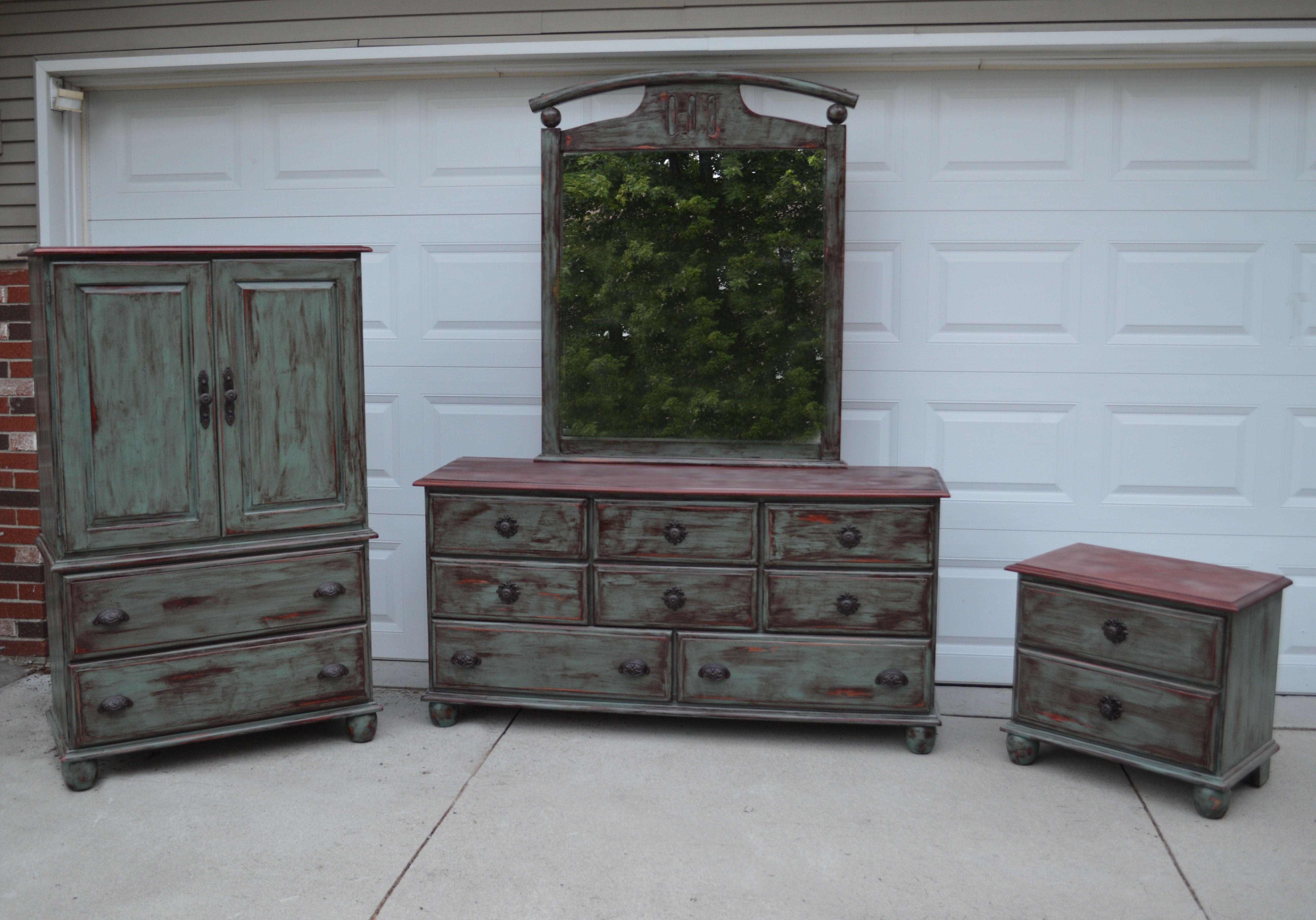 Rustic Shabby Chic Refurbished Dresser Set Designsbyalila