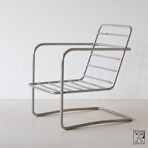Exceptional Rare Tubular Steel Chair Frame After A Design By Otto Rittweger For DESTA  Berlin   Image 4