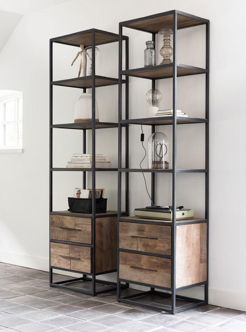 leuke boekenkast met dichte lades onderin. #boekenkast #interieur ...