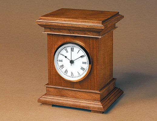Build A Desktop Clock Clock Plans In 2019 Wood Clocks