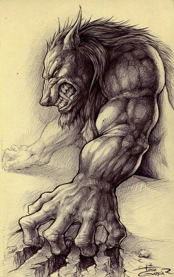 Hombres Lobo Werewolves And Wolf Pinterest Drawings Sketches
