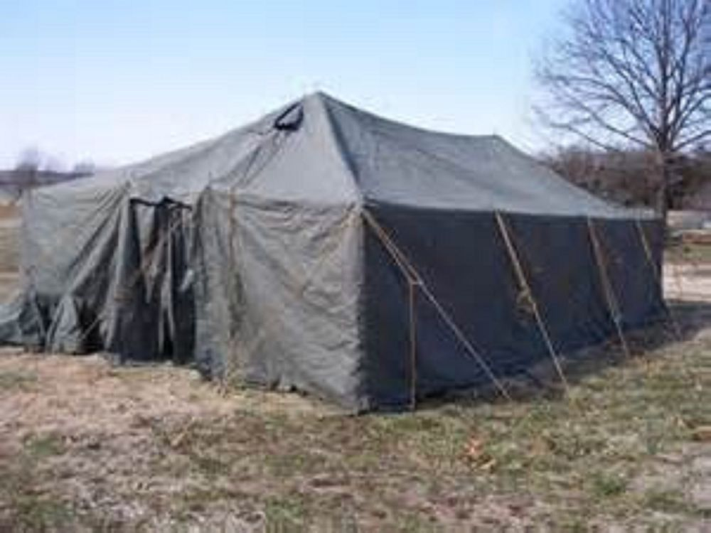 Military 16u0027 X 32u0027 Vinyl/Canvas General Purpose GP Medium Tent W/ & Military 16u0027 X 32u0027 Vinyl/Canvas General Purpose GP Medium Tent W ...