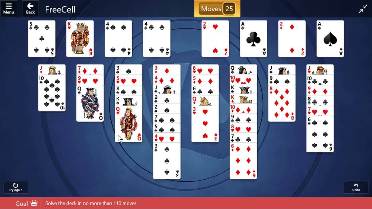 Freecell hard ii solve the deck in no more than 110