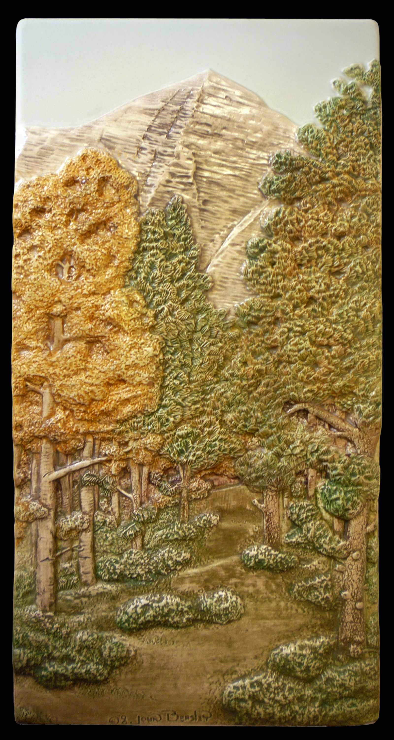Mountain path 6 x 12 inches ceramic handglazed wall art art tile ceramic tile sculpted landscape by medicinebluffstudio mountain path 6 x 12 inches suitable for hanging framing or installing dailygadgetfo Choice Image