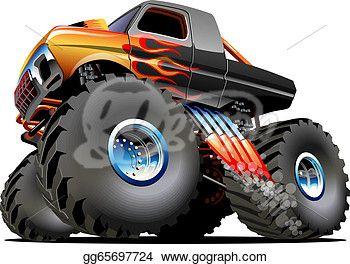 Cartoon Monster Truck With Images Monster Trucks Monster