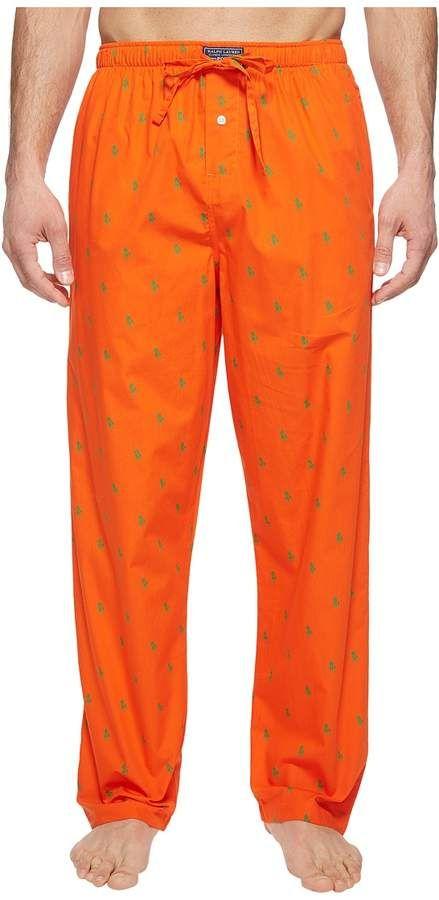 7b0d094cd3 Polo Ralph Lauren All Over Pony Player Woven Pants Men s Underwear ...