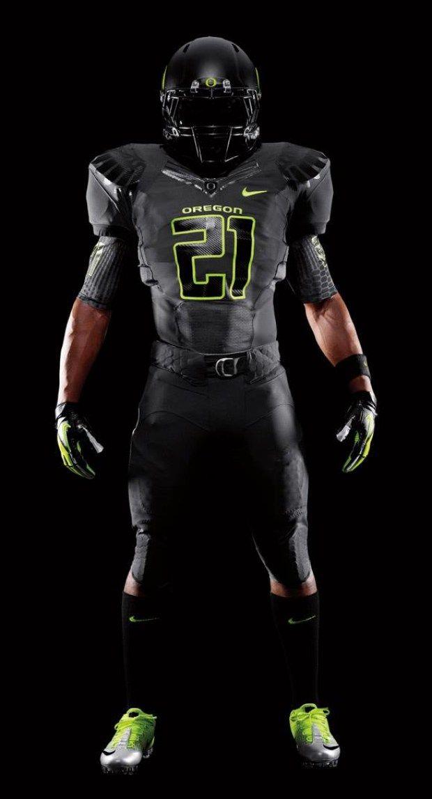 2011 Oregon Black Nike Pro Combat Unis Uniform Critics