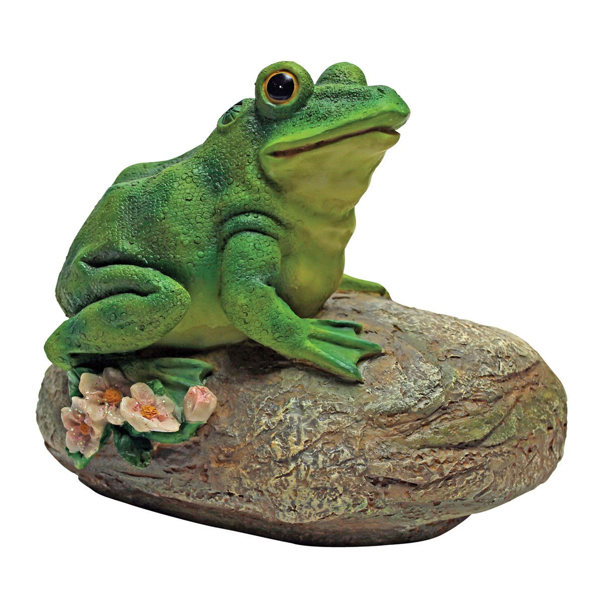 Design Toscano Thurston the Frog Garden Rock Sitting Toad Statue