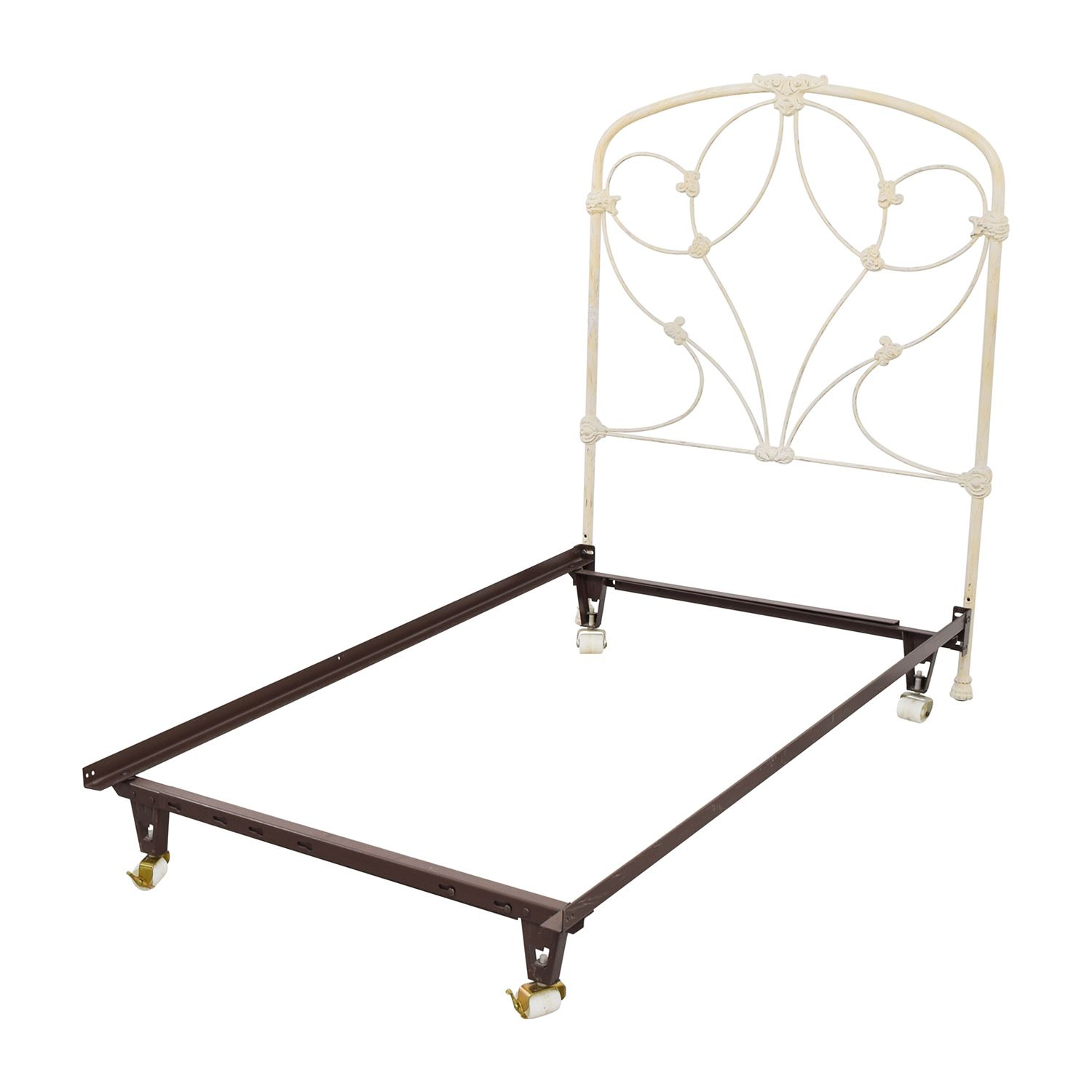 Modern Twin Size Metal Bed Frame On White Bed Frame Metal Bed Frame Metal Beds