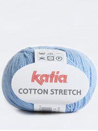 Katia Cotton Stretch - 87% Cotton, 13% Polyester - 50g ball - 3.5 - 4.5mm hook