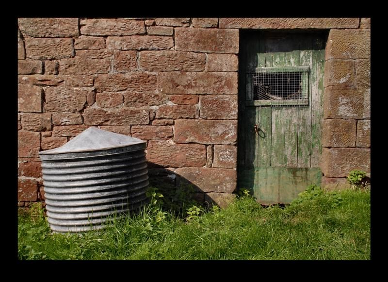 Door on an old farm in Gamblesby, Cumbria, England