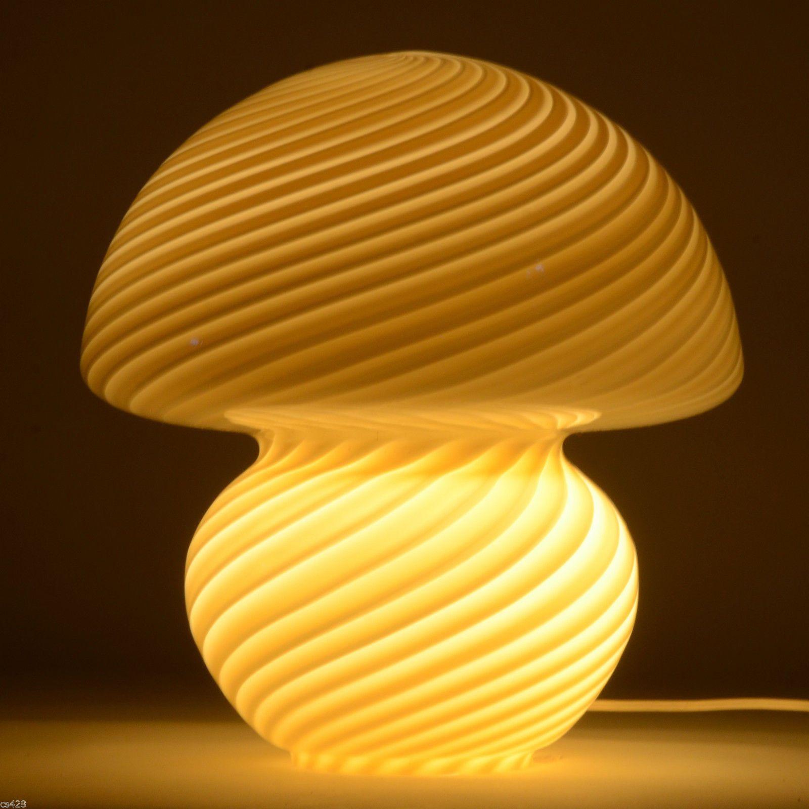 Great Murano Art Glass Mushroom Lamp