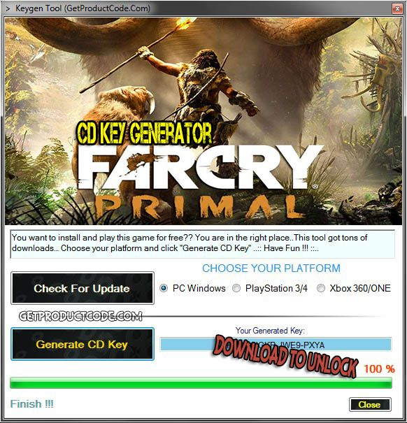 Your searched Far Cry Primal Keygen Serial CD-Key: working
