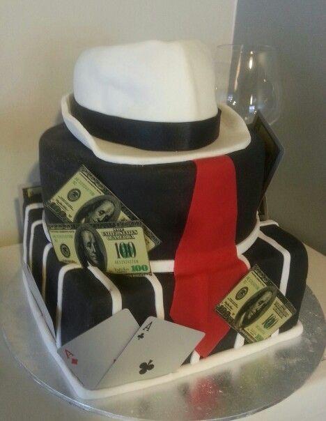 Mobster gangster mens birthday cake facebookSmitten Cakes