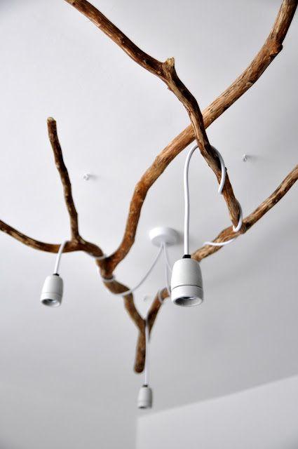 Nature inspired diy tree branch chandelier house design let there nature inspired diy tree branch chandelier aloadofball Gallery