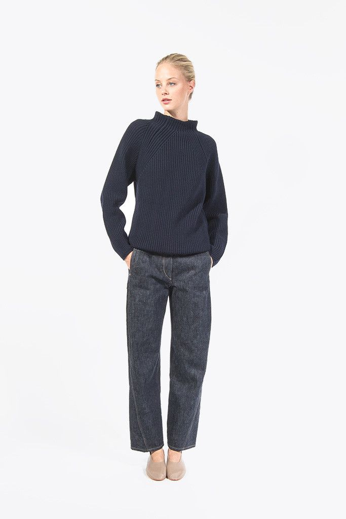 Twisted Denim by Lemaire #kickpleat #lemaire #twisted #denim