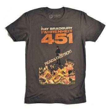 Fahrenheit 451 Tee Men's, $24, now featured on Fab.