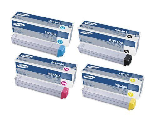 Samsung CLX-C8540A. CLX-K8540A. CLX-M8540A. CLX-Y8540A Toner Cartridge Set (OEM)  Toner Cartridge Set, Samsung Part# CLX-C8540A, CLX-K8540A, CLX-M8540A, CLX-Y8540A (C8540A, K8540A, M8540A, Y8540A – Includes all Four Color Toner Cartridges: Black, Cyan, Magenta & Yellow).  Manufactured by Samsung. Samsung Part# CLX-K8540A (K8540A) Black Toner Cartridge – 20000 Pages Samsung Part# CLX-K8540A (K8540A) Black Toner Cartridge – 20000 Pages Samsung Part# CLX-C8540A (C8540A) Cyan Toner Cartr..