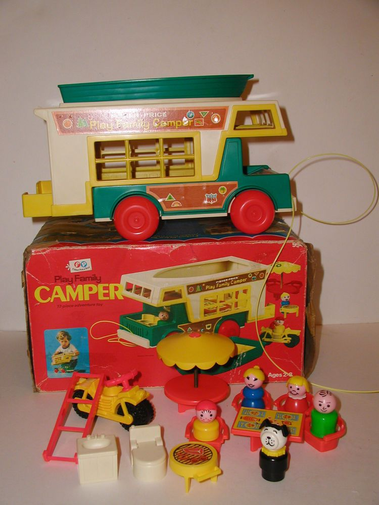 Vintage 1972 Little People PLAY FAMILY CAMPER #994 Complete, w/ Box FISHER PRICE   eBay