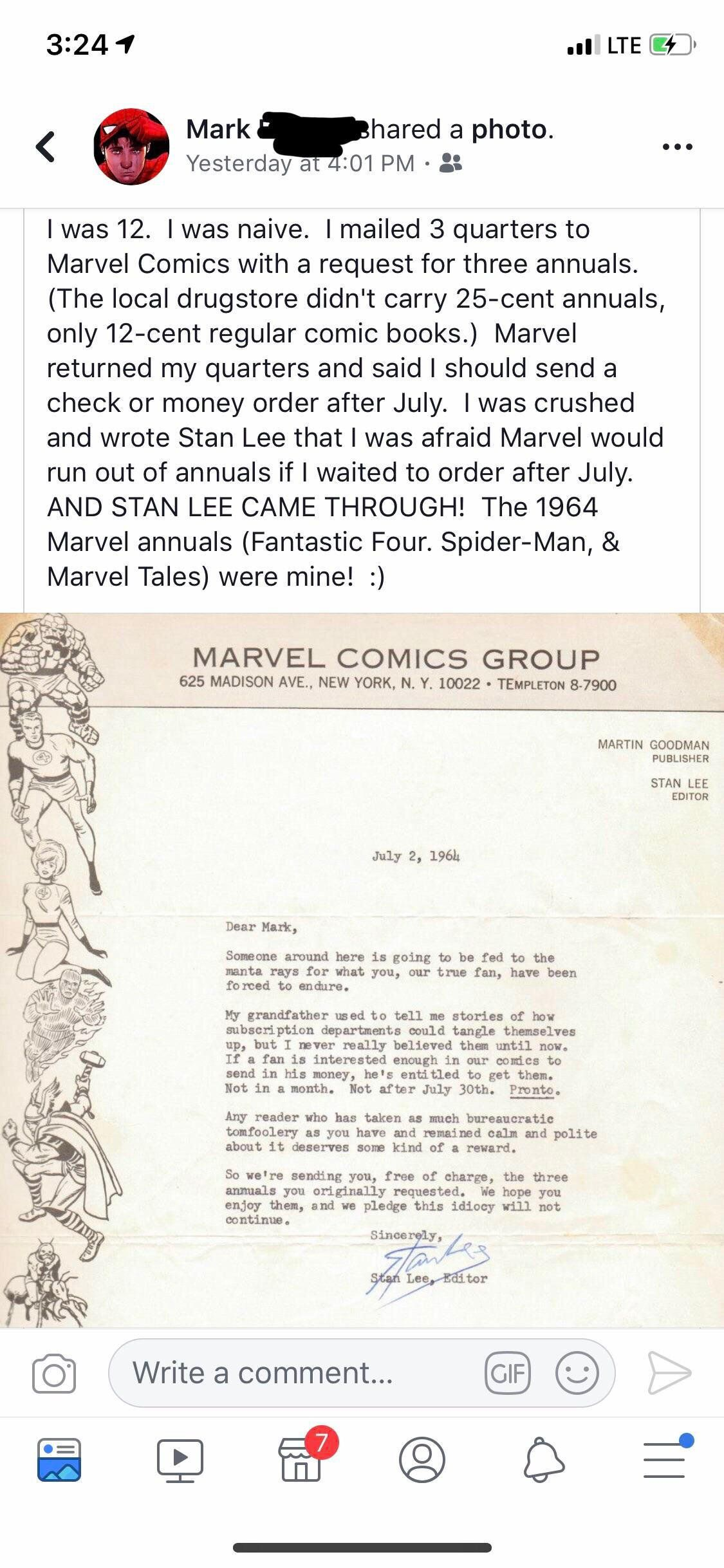 Touching Stan Lee Story Found On R Mildlyinteresting Mademesmile