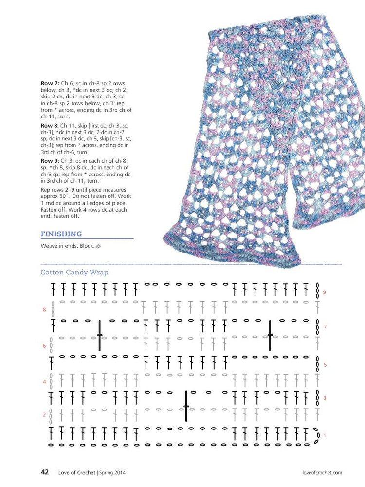 Love of Crochet Spring 2014 - 轻描淡写 - 轻描淡写 | bufandas crochet ...