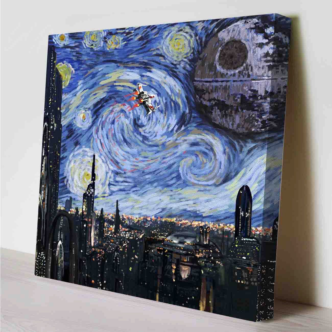 Star Wars Starry Night Canvas Print By Perioddesign On Etsy With